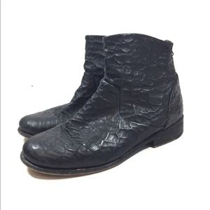 Fee People Black Textured Ankle Boots